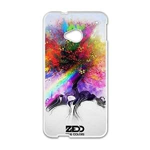 Zedd funda HTC uno M7 funda del teléfono celular de cubierta blanca, funda del teléfono celular de plástico