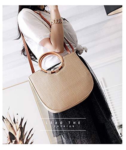 MENGMA Bolso mujer talla mochila única para Caqui HFR4H