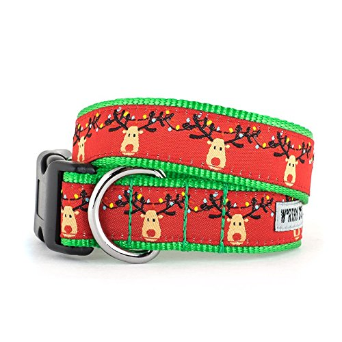 Ribbon Dog Collar Pet Christmas (The Worthy Dog Rudy Collar, Red, S)