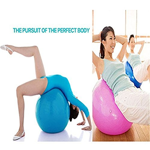 QUBABOBO Stability Balance Fitness Yoga Ball,Weight Loss,Strength Exercise,Swiss Balls with Pump 55CM,65CM,75CM,85CM(4 Colors Option)