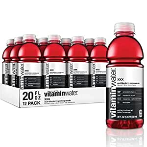 vitaminwater Electrolyte Enhanced Water w/ Vitamins, xxx Acai-Blueberry-Pomegranate, 20 Fl. Oz (Pack of 12)
