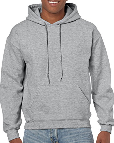 - Gildan Men's Heavy Blend Fleece Hooded Sweatshirt G18500, Sport Grey, Large