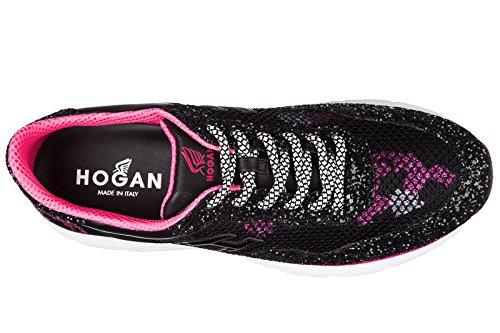 Hogan chaussures baskets sneakers femme en cuir h254 noir