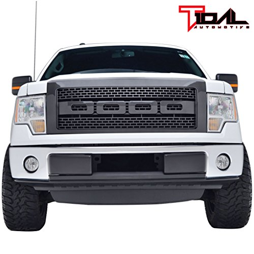 (Tidal F150 ABS Replacement Grille With Shell for 09-14 Ford F150 - Carbon Fiber Look)