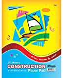 Bazic 32 Count 9'' X 12'' Construction Paper Pad [48 Pieces] - Product Description - Bazic 32 Count 9'' X 12'' Construction Paper Pad. Color Paper Includes Red, Blue, Orange, White, Yellow, Green And Black 32 Sheets Made In Usa ...
