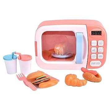 Tnfeeon Juguete de Horno de microondas electrónico para niños ...