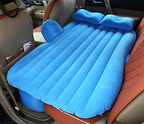 - DEED avec Pompe Gonflable Voiture Lit Gonflable Flocage Voyage Chocs Gonflables Voiture Camping Extérieur,Bleu,135  88  42CM
