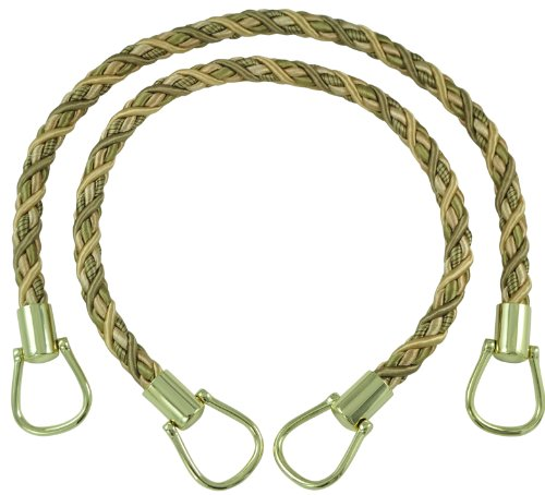 Olive Champagne - Pair of Elegant Olive Green, Champagne Curtain & Drapery Rope Tiebacks, 18