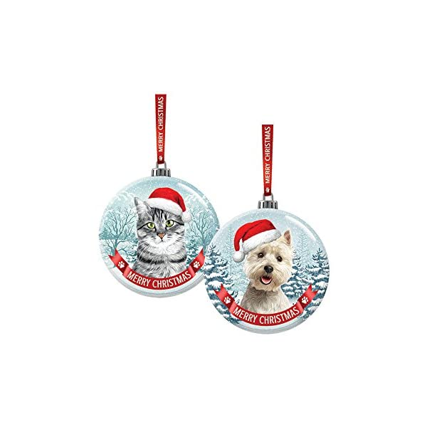 Santa Paws Glass Ornaments Santa Paws Glass Bauble - Rottweiler Ornament, Multi 3