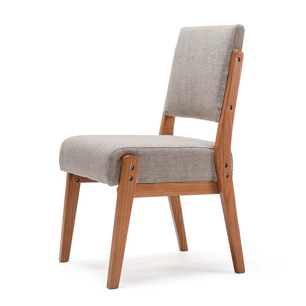 ZEMIN ダイニングチェア椅子の木の木製折り畳み 椅子 スツール シート ラダー 表 ポータブル 木製 バックレスト ソリッドウッド パッド入り 多機能、 6色あり、 47.5X48X93CM ( 色 : A-Gray ) B078WNKRCB A-Gray A-Gray