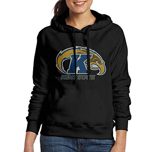 Price comparison product image FUOALF Women's Pullover Kent State University Athletic Logo Hoodie Sweatshirts Black S