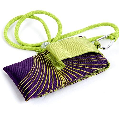 NFE² Jugendliches Leinen Etui grün - violett für Apple iPhone 4