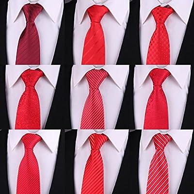 GENTLEE TIE Los hombres de negocios corbata roja trajes de boda ...