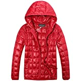 quilting filling - The Plus Project Men's Plus Size Quilted Lightweight Down Jacket 3X-Large Red