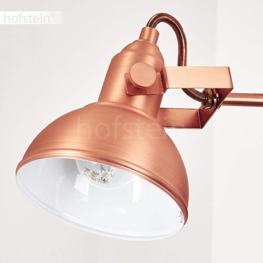 Salon Chambre Lampe sur pied Sourdeval en m/étal couleur cuivre cuivre Cette lampe dispose dun interrupteur sur le c/âble Lampe de sol pour bureau