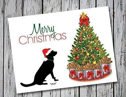 Chocolate Labrador Christmas Cards - Labrador Retriever Christmas Card Set of