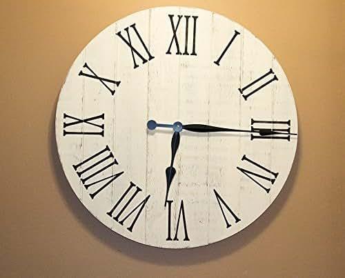 "Amazon.com: Farmhouse Decor Clock, 24"" Large Rustic Clock"