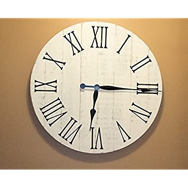 Farmhouse Decor Clock, 24  Large Rustic Clock, Wall Clock, Wall Clock Large, Rustic Wall Clock, Wall Clock Large, Wooden Wall Clocks, Home Decor
