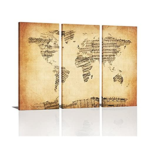 World Map Wall Art: Amazon.com