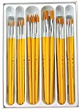 Arts & Crafts : Royal Brush 1289617 RCVP-101 Taklon Hair Classroom Value Pack, Assorted Size (Pack of 30)