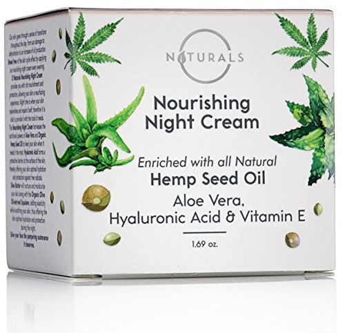 O Naturals Organic Hemp Seed Oil Anti-Aging Night Cream for Face & Neck. Moisturizes, Nourishes & Repairs Skin While Sleeping. Enriched with Hyaluronic Acid, Shea Butter & Vitamin E. 1.69 oz. ()