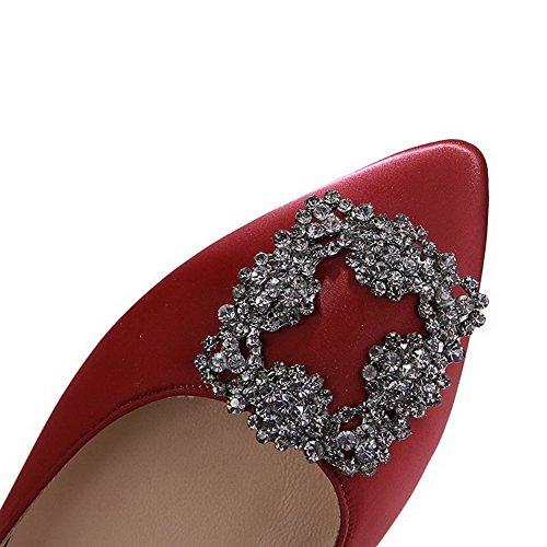 calzature Claret1cm on Alti Punta Amoonyfashion Pompa Chiusa Della Femminile Indicato Pull Solido F4qdxSwPzz