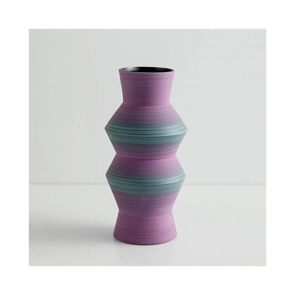 セラミック花瓶現代のミニマリストクリエイティブリビングルームディスプレイキャビネット花瓶人格手作り装飾 (Edition : C) B07SSBYZS4  C