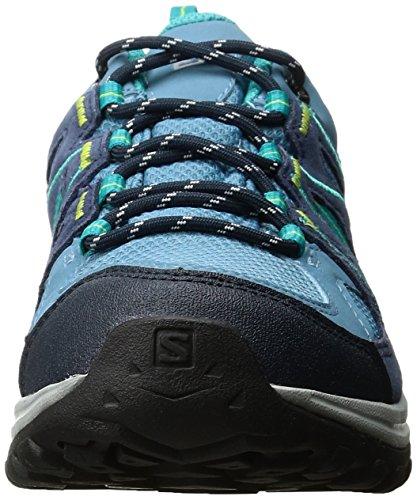 Salomon Women's Ellipse 2 GTX W Low Rise Hiking Shoes, Black, 3.5-4 Rainy Blue/Slateblue/Teal Blue F
