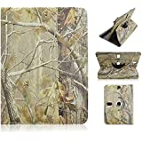 """Insignia Flex 10.1"""" inch Tablet BROWN CAMO OAK TREE Universal Case Cover - Adjustable 360 Rotating Stand Design"""