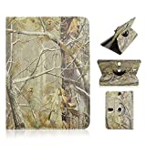 Trio Stealth Mach Speed G2 9.7'' inch Tablet BROWN CAMO OAK TREE Universal Case Cover - Adjustable 360 Rotating Stand Design