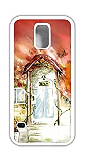 NBcase Open the Door Painting Hard PC case for samsung galaxy s5 for girls