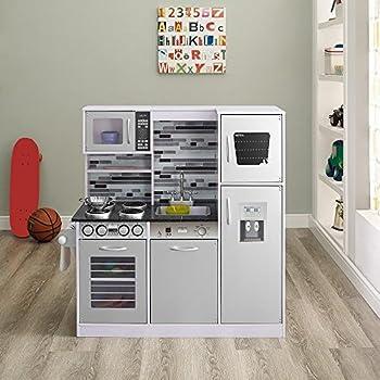 Amazon Com Melissa Doug Wooden Chef S Pretend Play Toy Kitchen