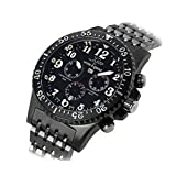 Xezo for Unite4:good Air Commando Mens Swiss Made Divers, Pilot Limited-Edition Chronograph Watch, 30 ATM