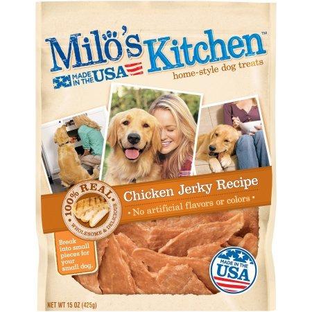 Milo's Kitchen Chicken Jerky Strips Dog Treats, 15-Ounce (4 Pack) UVC^H