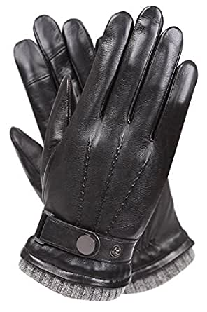 Men's Texting Touchscreen Winter Warm Nappa Leather Daily