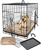 Pet Dog Cat Crate Kennel Cage & Bed Pad Cushion Warm Soft Cozy House Kit Playpen Folding Crate W/ Divider – 2015 Model, Super Easy to Assemble (X-Large Cage & Bed 36″)