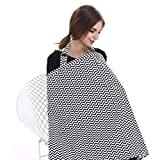 Aprince Breastfeeding Cover Nursing Cover for Breastfeeding Unisex Baby Multi-use for Car Seat Cover Apron with adjustable Strap and Pocket Cover up for Breast Feeding Babies Covers up Newborns Public