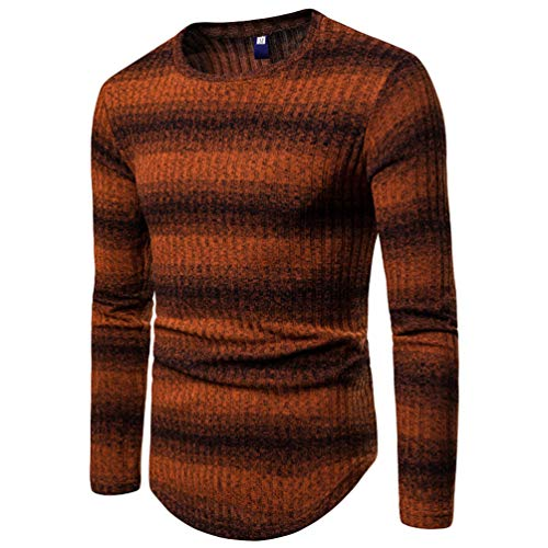 Homme over Fine Sweat Pull Mince Sweat Orange1 Patchwork Tricot À Manches Longues Pour Col Pull Ras Du shirt En Baijiaye Cou Maille zBwI0Iq