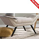 Upholstered Ottoman Tray Entryway Bench Upholstered Cushion Living Room Bedroom Ottoman Furniture Unique Frame Home Indoor Step Stool & Ebook by Easy 2 Find.