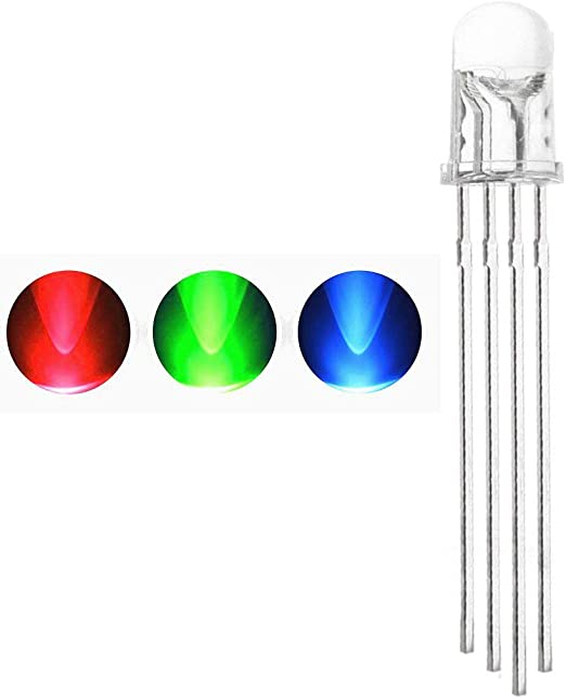 10 Pcs 5mm 4pin RGB Tri-Color Common Anode LED light Red Green Blue