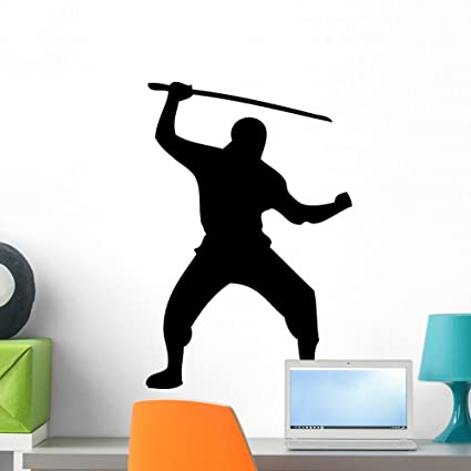 Amazon.com: Wallmonkeys WM20354 Ninja Silhouette Wall Decal ...