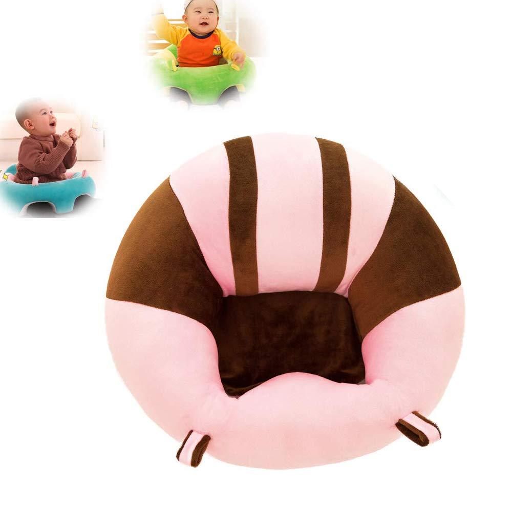 JUMOWA Almohada de Asiento para bebé, sofá de Felpa para bebé para Aprender a Sentarse, Rosa, 40 x 40 cm