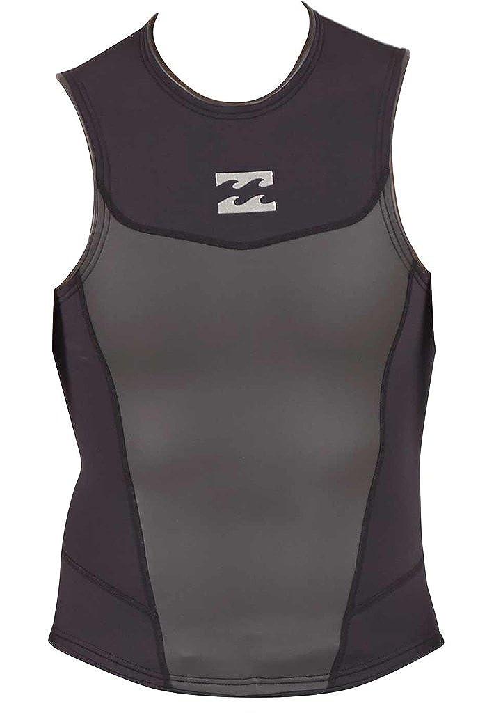 Billabongメンズ2 mm絶対ノースリーブウェットスーツジャケット B01J7M0OJS Small|ブラック ブラック Small