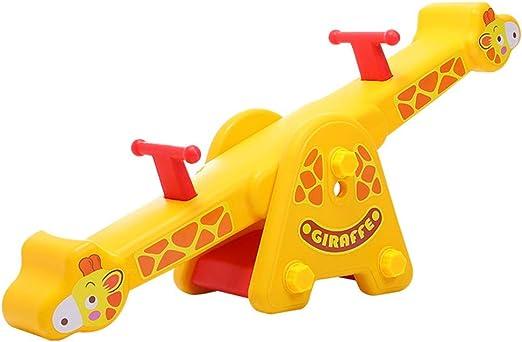 Yamyannie-Sports Totter niños - for niños de Interior y Exterior del balancín Spinning (Color : Amarillo, tamaño : 133x30x58cm): Amazon.es: Hogar
