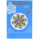 Bucilla Mini Counted Cross Stitch Kit, 5.125 by 7.625-Inch, 45444 Flower