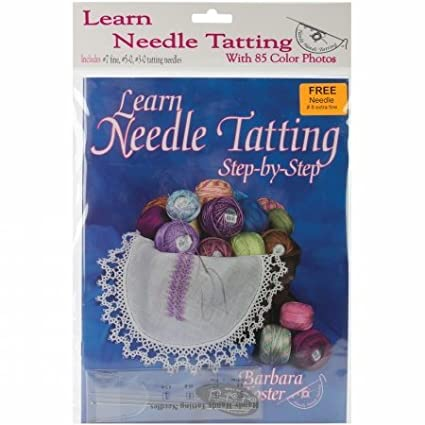 Handy Hands ST11P Learn Needle Tatting Step By Step Kit-With #7, #5-0, #3-0 Needles & Threader by HANDY HANDS
