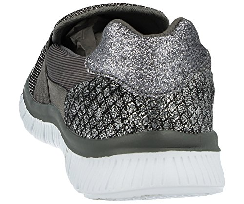 Cushion mode Baskets Baskets Cushion femme Walk pour femme Scarlett Silver Cushion Scarlett Walk Silver mode pour w1P88q