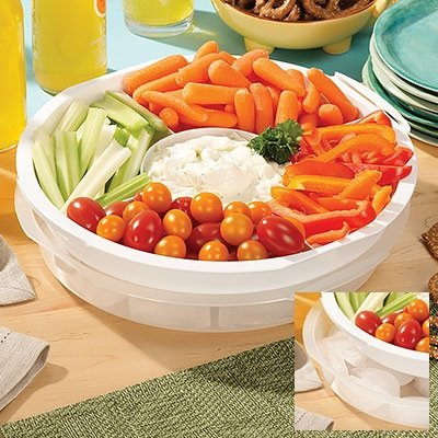 Portable 5 Section Serving Tray w/ Lid