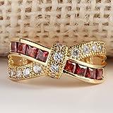Sumanee Yellow Gold Filled Gemstone Wedding Engagement Band Ring Womens Jewelry Gift 2 (10)