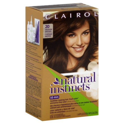 Clairol Natural Instincts Hair Color, Non-Permanent, Medium Brown 20, 10.4 Ounce